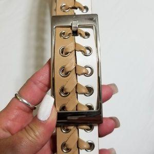 🆕️ Via Spiga Ladies 2 Tone Leather Belt